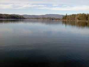 Squam Lake on a beautiful late fall day